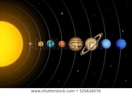 Vector Solar System Planets Diagram Stock