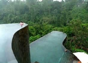 hanging infinity pools in bali at ubud hotel resort freshome com