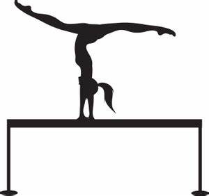 Gymnastics Clipart Image - Silhouette of a Gymnast on a ...
