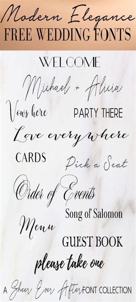 font friday modern elegant wedding fonts freebie