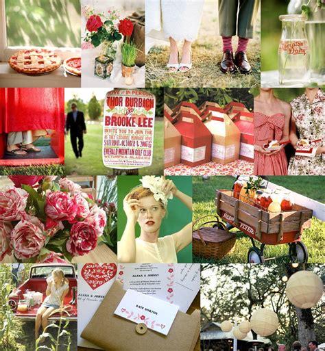 wedding blog red  green wedding colors