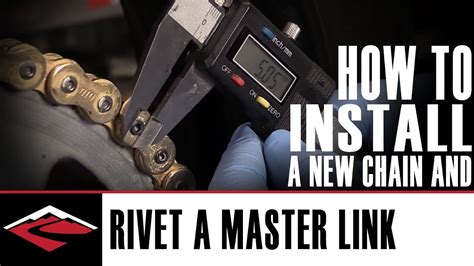 How To Install A New Motorcycle Chain And How To Rivet The