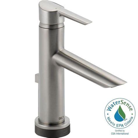 delta touch faucet battery delta compel single single handle bathroom faucet