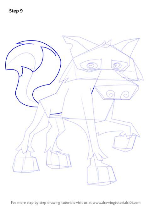 learn   draw wolf  animal jam animal jam step
