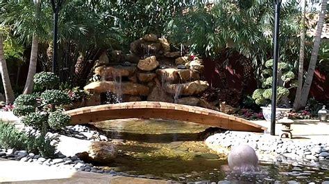 zen garden waterfall private residence miamifl youtube