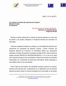 Modeolo carta de solicitud de proyectos