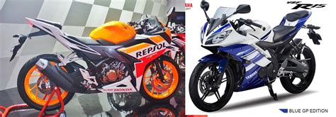 Cb 150r And Yamaha R15 by Perbandingan Yamaha R15 Vs New Honda Cbr 150 R 2016
