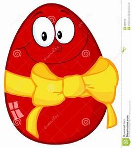 Oeuf De Paque : oeuf de p ques rouge heureux avec une bande et une proue ~ Melissatoandfro.com Idées de Décoration