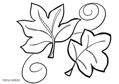 immagini da colorare foglie da colorare portale bambini