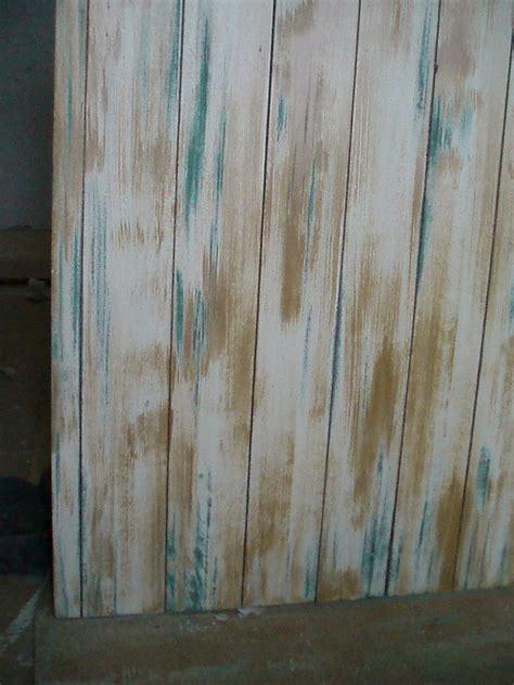 tabla de mesa en verde ocre  blanco decapado muebles