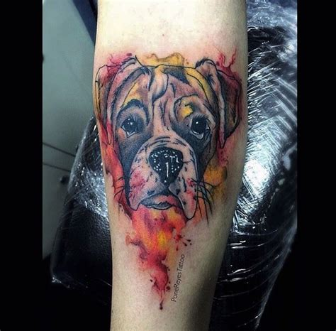 Boxer Dog Tattoo  Tattoo Ideas  Pinterest  Boxer Dog