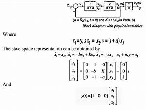 State Space Representation Of Continuous Time Systems