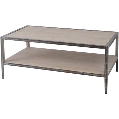 Buy Libra Distressed Wood And Metal Coffee Table From