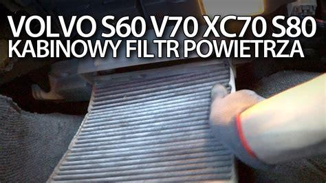 volvo   xc  wymiana kabinowego filtra powietrza