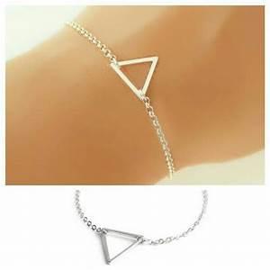 Idée Cadeau Femme Pas Cher : cadeau femme bracelet triangle argent chic bijoux fantaisie ~ Dallasstarsshop.com Idées de Décoration