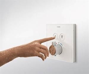 Miscelatore termostatico per doccia in vetro temperato ShowerSelect hansgrohe