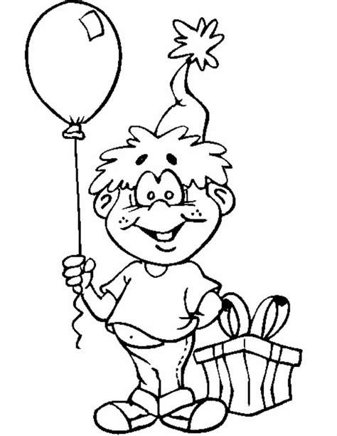 Kleurplaat Ballon Met Mandje En Baby by Kleuren Nu Jongen Met Ballon Kleurplaten