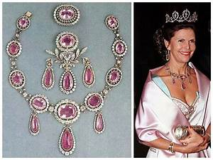 Swedish pink topaz parure worn by Queen Sylvia (with the ...