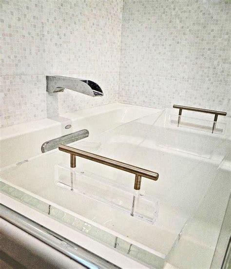 lucite modern clear bathtub bath tray