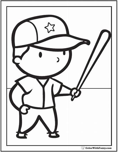 Baseball Coloring Pages Preschool Printable Pdf Colorwithfuzzy