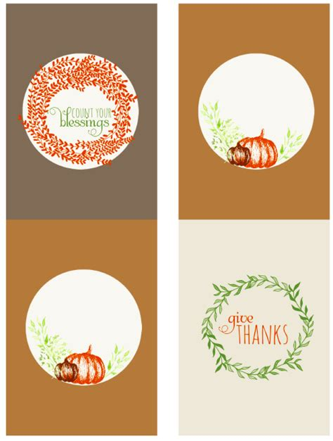 thanksgiving holiday label printables  printable