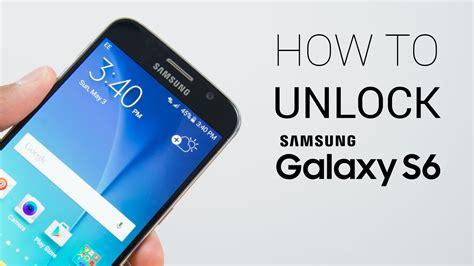 How To Unlock Samsung Galaxy S6 Youtube