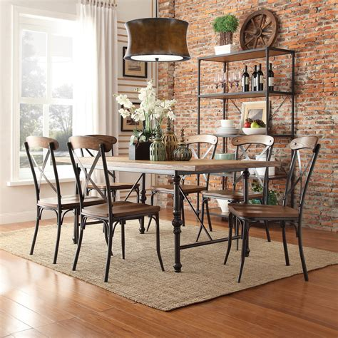 oxford creek allison rustic 7 piece dining set home