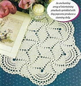 Scalloped Pinwheel Doily 12 1  2 U0026quot  Diameter Crochet Pattern
