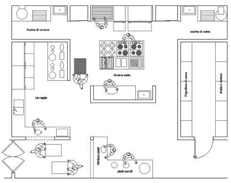 plan de cuisine professionnelle restaurant cucina industriale dwg restaurant kitchen