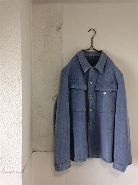 vintage swiss military denim jacket brown