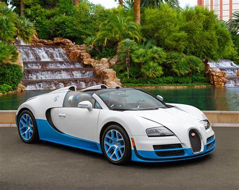 Bugatti Veyron Blue And White by Vegas Car Stock Photos Kimballstock