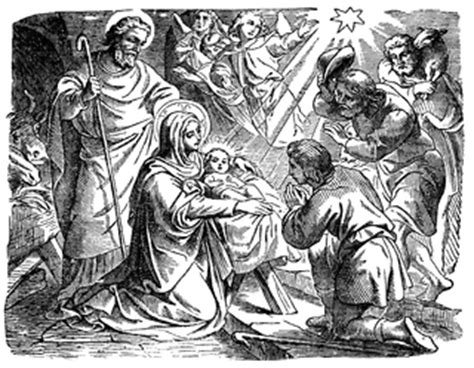 adoration   shepherds   birth  jesus clipart