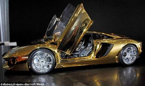 Expensive Model by Gold Lamborghini Worth 163 4m Pictured In Could Be