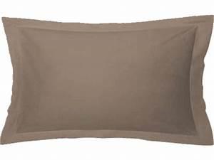 Taie D Oreiller 50x70 : taie d 39 oreiller 50x70 cm perla coloris ficelle vente de taie d 39 oreiller et traversin conforama ~ Teatrodelosmanantiales.com Idées de Décoration