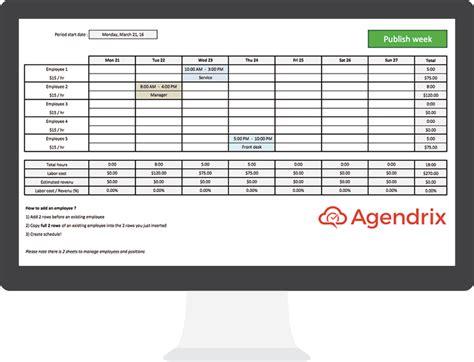 modèle de planning de travail le meilleur mod 232 le excel gratuit pour le planning des