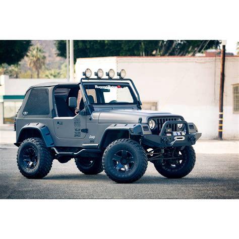 light bar on jeep rugged ridge 11232 01 frame light bar black 97 06