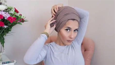 tutorial hijab turban glamour