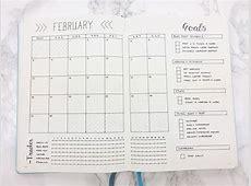 Bullet Journal February Set Up & Template bullet journal