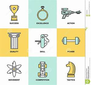 Business Development Skills Flat Icons Set Stock Vector ...