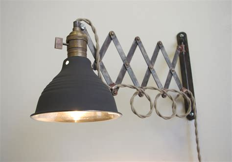 industrial scissor articulating wall l light by longmadeco