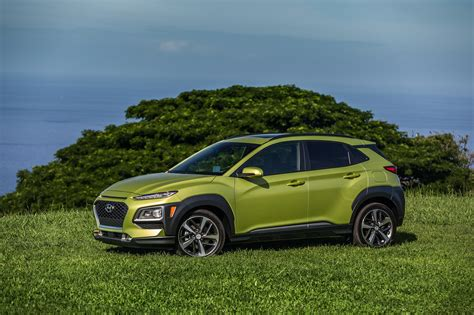 Without them, the kona relies mostly on its big personality, exceptional warranty and ownership benefits, and impressive available equipment list to woo small suv shoppers. 2018 Hyundai Kona Makes U.S. Debut   Automobile Magazine