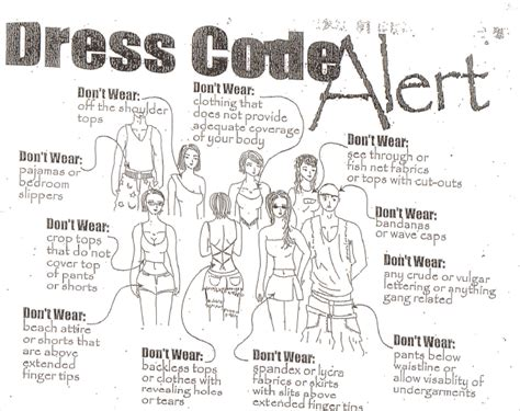 Elementary Dress Code by Tracy Unified School District High School Dress Code