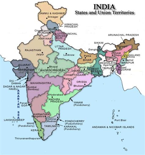 Carte Politique Du Monde Indien by Cochin Plan