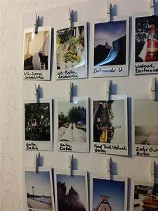 Idee Für Fotowand : polaroid sofortbilder fotorahmen foto fotosaufh ngen w scheklammern idee diy deko ~ Markanthonyermac.com Haus und Dekorationen