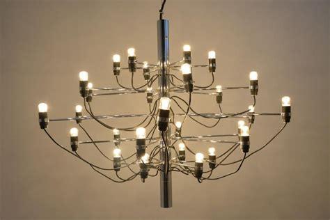 gino sarfatti chandelier 2097 30 chrome chandelier by gino sarfatti for arteluce