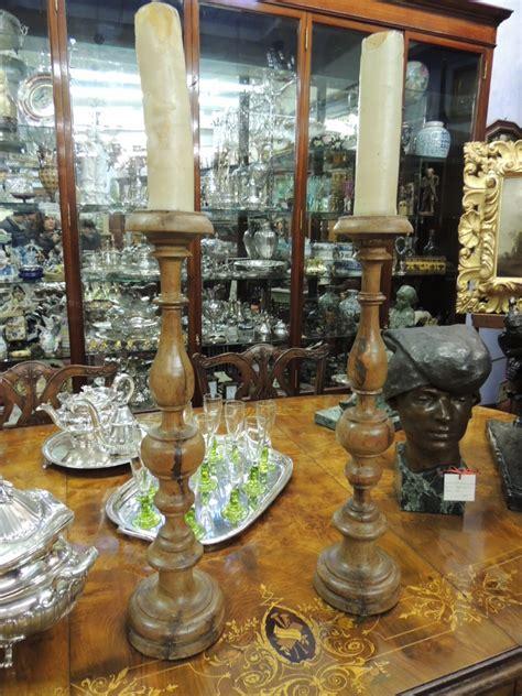 candelieri antichi preziosa coppia antichi candelieri candelabri 600 a