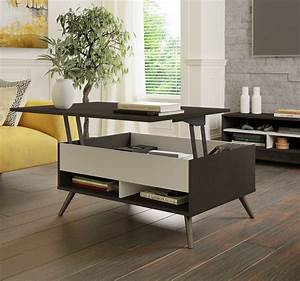 Small, Space, Krom, 37-inch, Lift-top, Storage, Coffee, Table, In, Deep, Grey, White