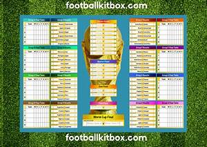 Footballkitbox Com World Cup Wall Chart Football Kitbox