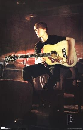 justin bieber guitar wall poster  unknown