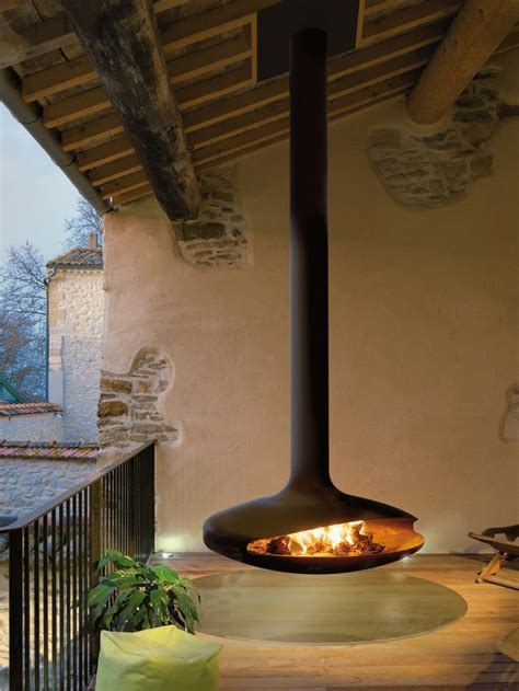 gyrofocus outdoor  focus fires suspended outdoor fireplace